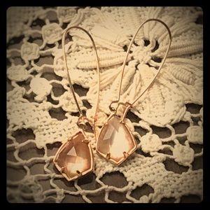 Carinne Drop Earrings in Rose Gold